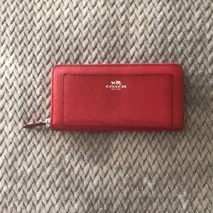 Coach Leather Zip-Around Wallet